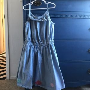 Gymboree chambray dress with flowers